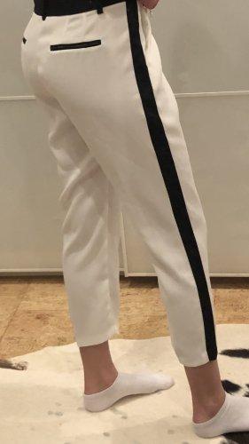 Guess Pantalón con estribo blanco-negro