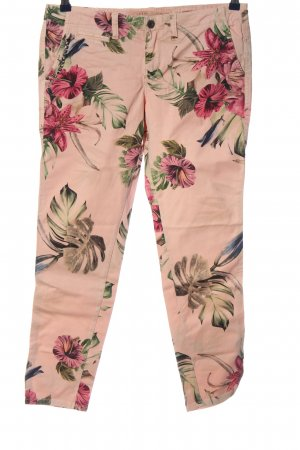 Guess Stoffhose pink-grün Allover-Druck Casual-Look