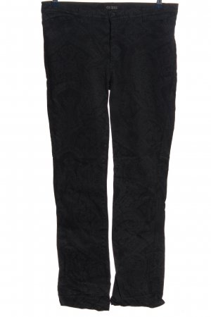 Guess Straight-Leg Jeans schwarz abstraktes Muster Casual-Look