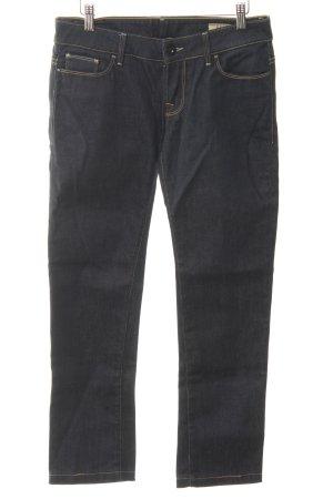 Guess Straight-Leg Jeans dunkelblau-hellgelb Casual-Look