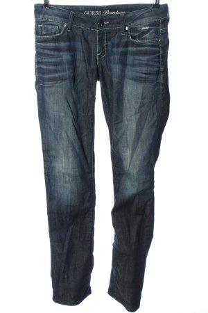 Guess Jeansy z prostymi nogawkami niebieski W stylu casual