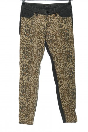 Guess Jeansy z prostymi nogawkami Wzór w lwa Ekstrawagancki styl