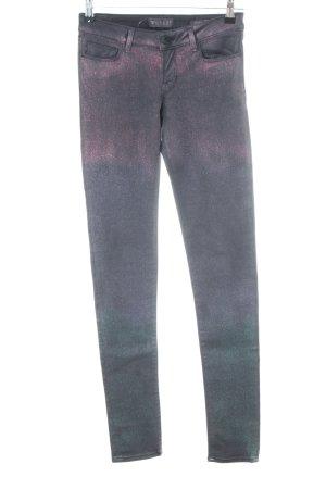 Guess Stretchhose hellgrau-pink Farbverlauf Glanz-Optik