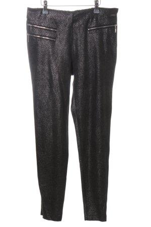 Guess Stretch broek zwart gestippeld casual uitstraling