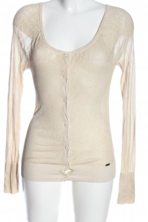 Guess Strick Cardigan wollweiß Casual-Look
