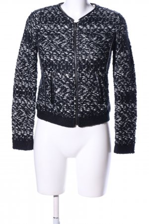 Guess Strickjacke schwarz-weiß meliert Casual-Look