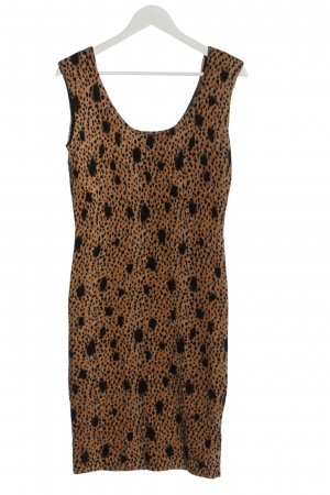 Guess Sukienka z dzianiny brązowy-czarny Na całej powierzchni W stylu casual