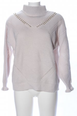 Guess Strickpullover wollweiß Zopfmuster Casual-Look