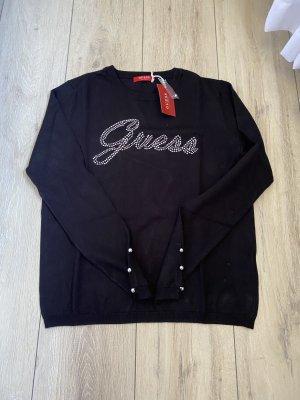 Guess Pull tricoté noir