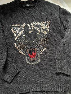 Guess Sweter z dzianiny czarny