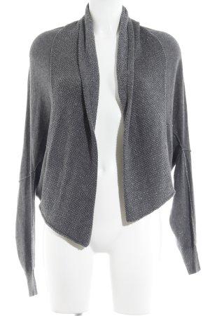 Guess Chaleco de punto gris oscuro-color plata tejido mezclado