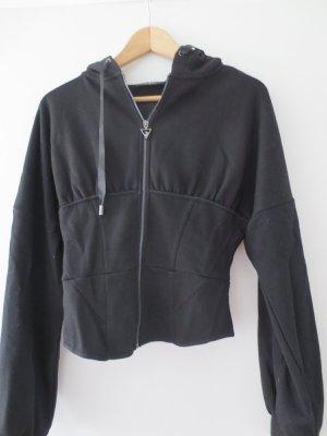 Guess, Sweaterjacke, Gr. 36/S, schwarz, Kapuze, nur 2x getragen, NEU