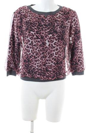 Guess Sweatshirt pink-schwarz Allover-Druck Casual-Look