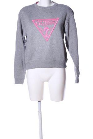 Guess Sweatshirt hellgrau-pink meliert Casual-Look