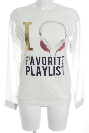 Guess Sweatshirt Motivdruck Street-Fashion-Look
