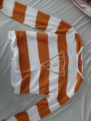 Guess Bluza dresowa biały-ciemny pomarańcz