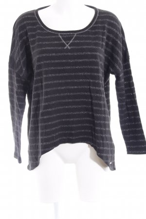 Guess Sweatshirt taupe-silberfarben Streifenmuster Casual-Look