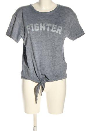 Guess T-shirt lichtgrijs gestippeld casual uitstraling