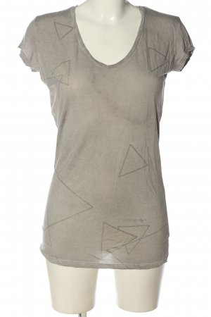 Guess T-Shirt hellgrau grafisches Muster Casual-Look