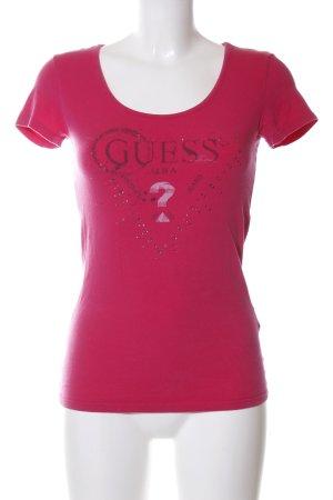 Guess T-Shirt rot-braun Motivdruck Casual-Look