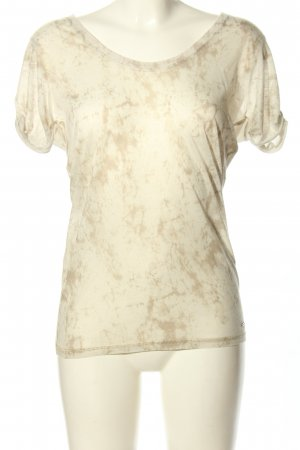 Guess T-Shirt wollweiß abstraktes Muster Casual-Look
