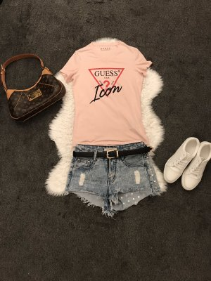 Guess T-shirt zalm