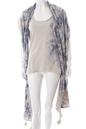 Guess T-Shirt hellbeige-dunkelblau florales Muster Lagen-Look