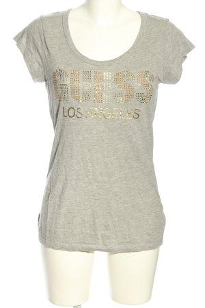 Guess T-Shirt hellgrau meliert Casual-Look