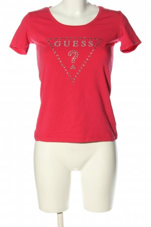 Guess T-Shirt rot Motivdruck Casual-Look