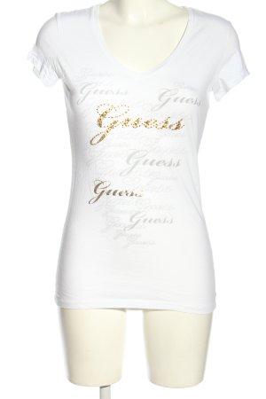Guess T-Shirt Schriftzug gedruckt Casual-Look