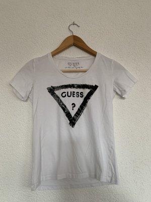Guess T-shirt weis mit schwarzen Logo