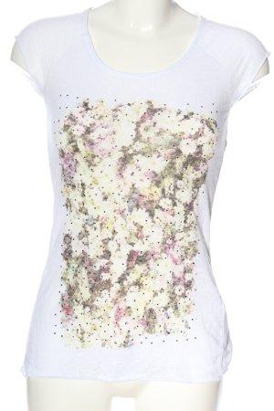 Guess T-Shirt weiß Blumenmuster Casual-Look