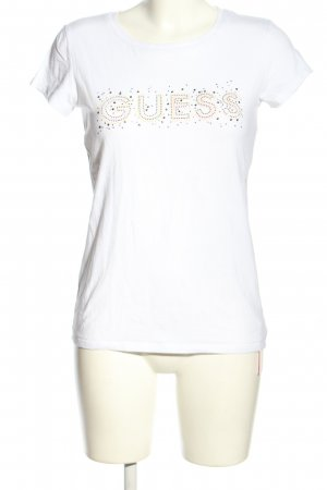 Guess T-Shirt weiß-pink Casual-Look