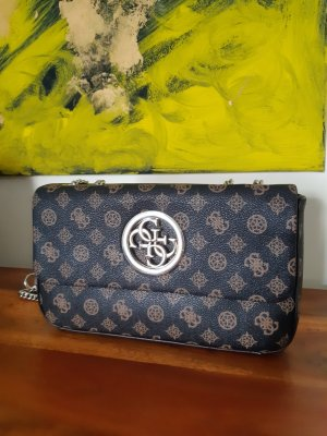 Guess Clutch silver-colored-grey brown