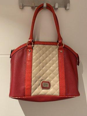 Guess Handbag red-cream
