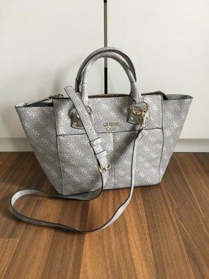 Guess Tasche Handtasche Girlfriend dove grau weiß