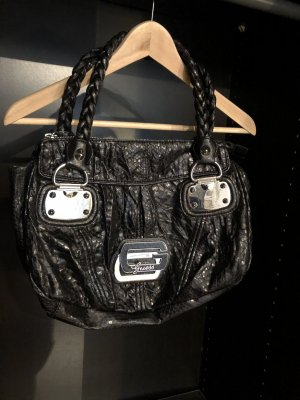 Guess Tasche Handtasche schwarz