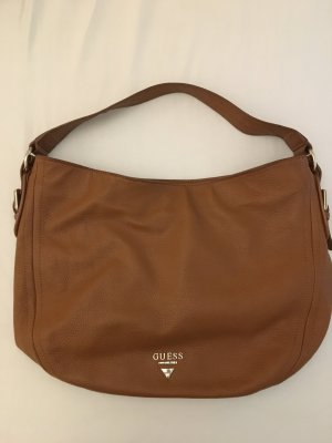 Guess Shoulder Bag cognac-coloured
