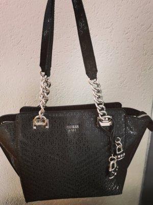 Guess Handtas zwart-zilver