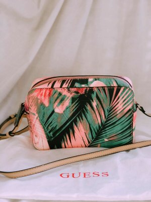 GUESS TASCHE Palmenmotiv grün/pink