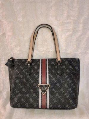 Guess Tasche Schwarz mit rotem Streifen