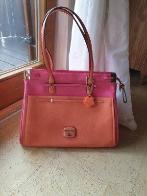 Guess Shopper oranje-roze Imitatie leer