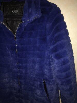 Guess Teddy Kuschel Jacke blau 38 M