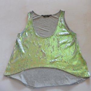 Guess Débardeur à col bénitier argenté-gris clair polyester