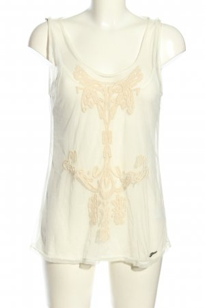 Guess Transparenz-Bluse wollweiß Casual-Look