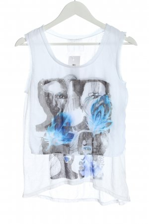 Guess Tank Top white themed print casual look