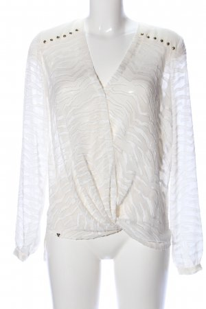 Guess Transparenz-Bluse creme-weiß Casual-Look