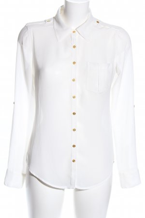Guess Blusa transparente blanco estilo «business»