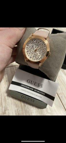 Guess Reloj con pulsera de cuero rosa