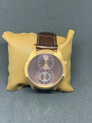Guess Watch With Leather Strap brown